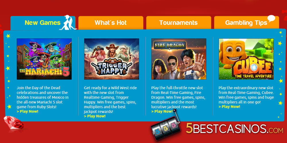 ruby slot casino review games