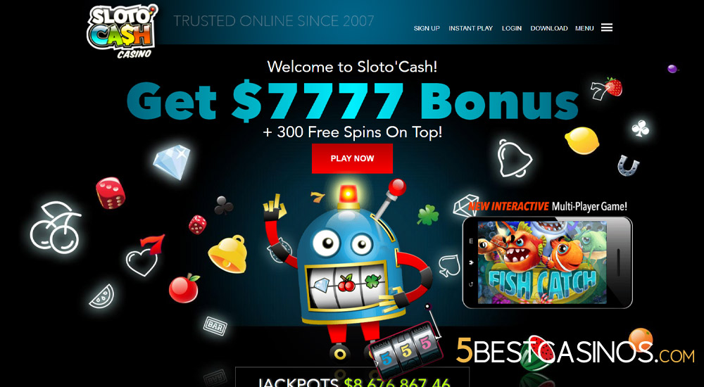 slotocash casino homepage screenshot