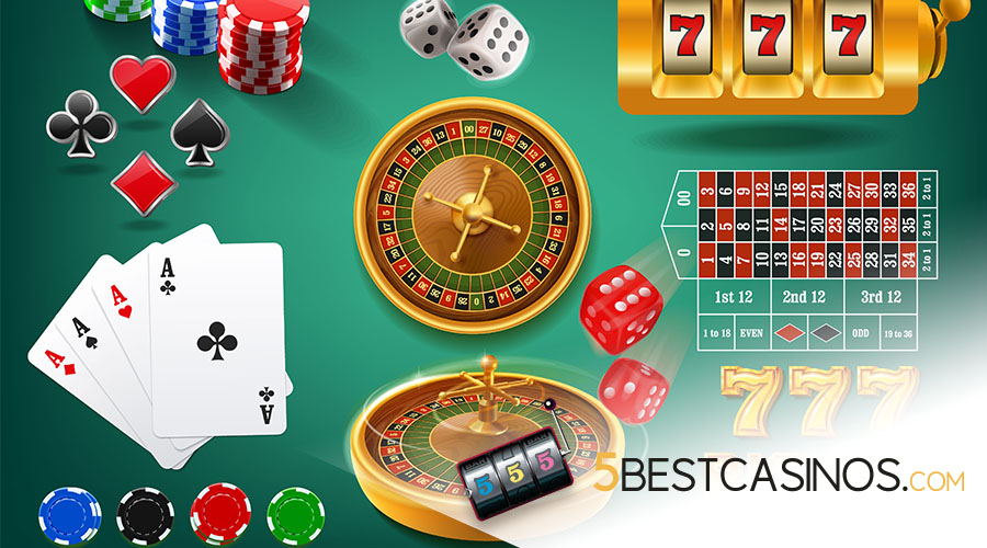 Casino Games for US players - 5 Best Casinos