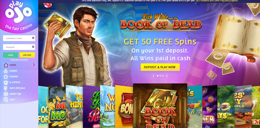 Play Ojo 50 free spins