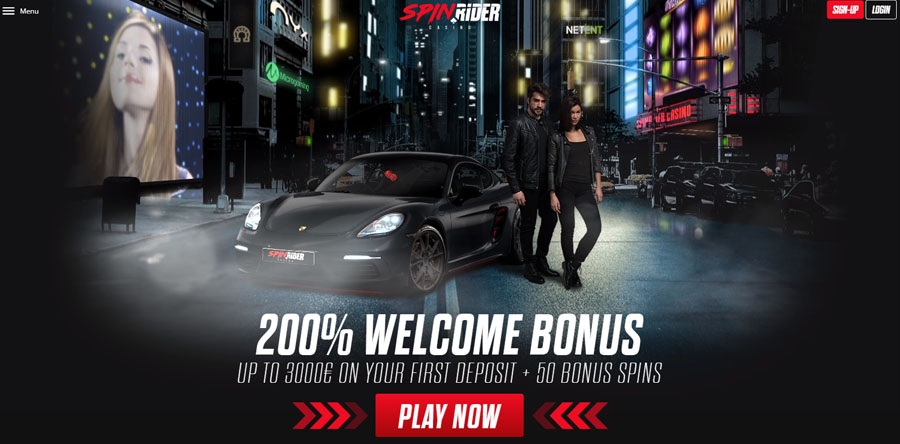 Spin Rider Casino welcome bonus