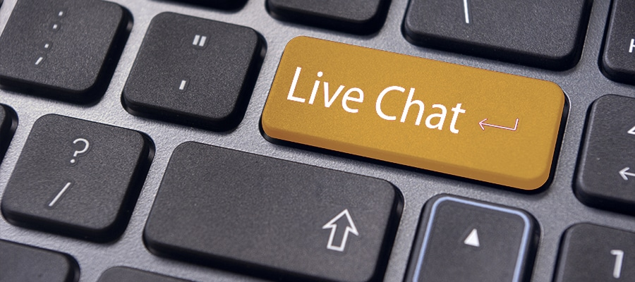 Using Live chat at online casinos in the UK